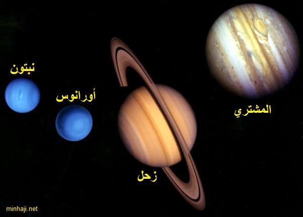 الكواكب الغازية والكواكب الصخرية المجموعه الشمسيه